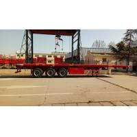 Buy cheap Cargo Container Platform Semi Trailer With Howo Heavy Duty Chassis And Twist Locks from wholesalers