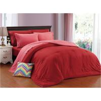 Buy cheap Comforter Set 3pcs Polycotton 1200 Series Combed Cotton Blend Solid Bedding Set Solid Color Embroided Pillow from wholesalers
