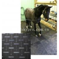 Buy cheap Black horse / cow  rubber stable matting variable textures on top 3mm thick min. product