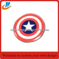 Buy cheap Custom customer 's design Captain America lapel pin print process with epoxy from wholesalers