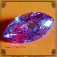 Buy cheap Maquiare Checker Lavender Cut CZ Gemstones from wholesalers