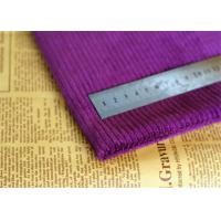 Buy cheap Water Proof Purple Corduroy Fabric Antibacterial 60 Cotton 40 Polyester from wholesalers