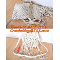 Buy cheap Women Hippie Bag Hand Crochet Fringed Messenger Bags Tassels Cross Bag Bolso Flecos Bolsas from wholesalers