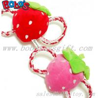 Buy cheap Squeaky Stuffed Pet Toy Plush Strawberry Cotton Rope Toy from wholesalers