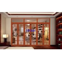 Buy cheap Sound Insulation Aluminum Clad Wood Doors , Strong Frame Aluminium Bifold Patio Doors from wholesalers
