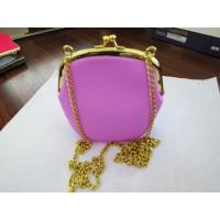 Buy cheap New fashion 100% food grade silicone shoulder bag,tote bag,ladies' bag with chain from wholesalers