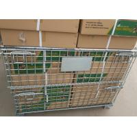 Buy cheap Industrial Storage Cage , Stackable Wire Mesh Baskets 500-2000kg Capacity from wholesalers