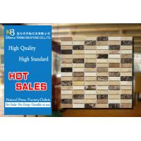 Buy cheap Kitchen Travertine Marble Mosaic Tiles Mixed Beige And Dark Emperador from wholesalers