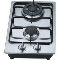 Fashion Stainless Steel 2 Burner Gas Hob / Kitchen Gas Cooktop 30cm Built In