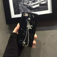 Buy cheap Soft TPU Small Flash Star Metal Back Chain Strap Cell Phone Case Cover for iPhone 7 6s Plus from wholesalers