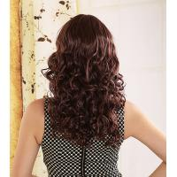 China Clearance high end 100% heat-resistance Fiber Brown Curly Synthetic Hair Wig on sale