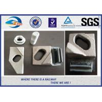 Buy cheap Crane Clip 21/050 For A75 , QU80 Crane Rail , Q235 Oiling Crane Rail Clamp with 16mm Bolt from wholesalers