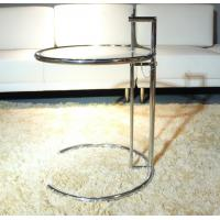 Buy cheap Eileen Gray Glass End Tables Stainless Steel Frame Simple Adjustable Height from wholesalers