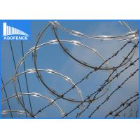 Buy cheap Hot Dipped Galvanized Razor Barbed Wire For Highway / Railway , High Anti Corrosion from wholesalers