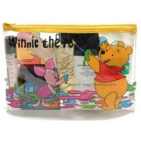 Buy cheap Winnie Bear Plastic Travel Zipper Pouches, PVC Travel Kits Cosmetic Zipper Pouches 20 x13 cm from wholesalers