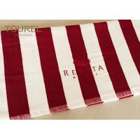 Nice Stripe Hotel Bath Towels with Personal Needed Logo and Colors
