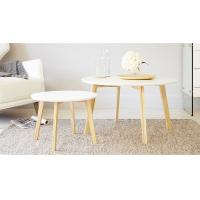 Buy cheap Oak Solid Wood Small Round Side Table Simple For Living Room / Bedroom from wholesalers