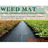 Buy cheap PP woven weed mat,ground cover, black fabric,weed barrier for agriculture, weed killer fabric, agricultural anti weed ma from wholesalers