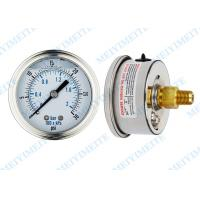 Buy cheap 63mm Back movement  liquid filled manometer with stainless steel and  brass material from wholesalers