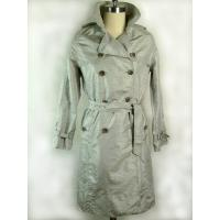 Buy cheap Waterproof  Womens Long Down Jackets / Wind Coat With Polyester Lining product