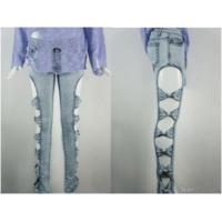 Buy cheap Skinny Jean - Style: Md137 ( Cotton-rich Twill | Amazing Cut Off Sides And Bo... from wholesalers