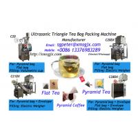 Buy cheap ultrasonic pyramid tea bag packing machine with inner bag and outer envelope from wholesalers