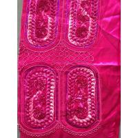 Buy cheap Dribbling Sequin Embroidered Fabric , Red Embroidered Taffeta Fabric from wholesalers
