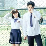 Buy cheap Girls International Middle High School Uniforms Shirt Korean white Long Sleeve from wholesalers