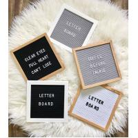 Buy cheap colourful wrap Wooden paper mdf density Advertising Letter Board letterboard for office or home decor from wholesalers