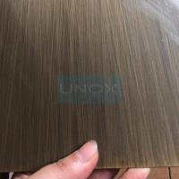 Buy cheap SUS304 Hairline Bronze Stainless Steel Sheet ,PVD Color Decoration Sheets 1250mm 1500mm Copper, Brass, Bronze product