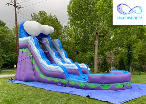 Buy cheap 2021 Commercial Kids Jumping jungle slide Inflatable Water Slide For sale from wholesalers