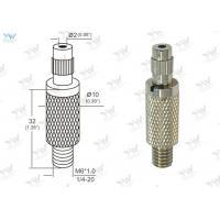 Φ10mm Brass Material Grip Lock Cable Grippers Nickel Finishing With  Security Cap