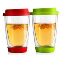 Buy cheap Handmade Thermo Double Wall Glass Coffee mugs for  Latte Tea dinning bar office,home school from wholesalers