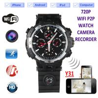 Quality Y31 16GB 720P WIFI IP Spy Watch Hidden Camera Recorder IR Night Vision Home Security Wireless Remote Video Monitoring for sale