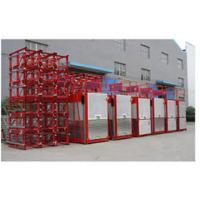 Buy cheap Twin Cage Red Passenger Hoist Elevator 2000kg SC200 / 200 For Construction from wholesalers