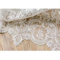 Buy cheap Ornament Wedding Floral Corded Lace Fabric Embroidered Tulle For Pallas Couture from wholesalers