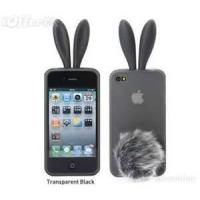 Buy cheap Gray rabbit apple phone case cover leather with  iphone 4 / 4s phone diamond case from wholesalers