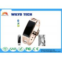 Buy cheap Anti-lost Metal Bluetooth Wrist Watch Health Bracelet Gold Music Display Incoming Call WD8 from wholesalers