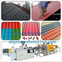Buy cheap PVC+ASA anti-ultraviolet/anti-corrosion glazed roof tile/roofing sheet extrusion equipment product