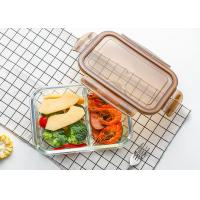 Buy cheap Storage Glass Food Container With Lid / Glass Crisper / Microwave Glass Bowl from wholesalers