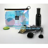 Buy cheap gusset slider ziplock printed pvc zipper bags with holding loop with confetti, zipper slider bags for pencils pens from wholesalers