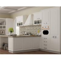 Buy cheap Dining Kitchen Furniture discount wood veneer l shape kitchen cabinet from wholesalers