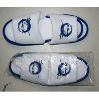 Buy cheap Waffle, non woven and cotton Open or close embroidered Logo Toe Hotel Slipper from wholesalers