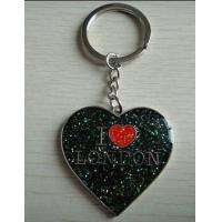 Buy cheap I Love London heart shaped metal souvenir keychains wholesale gifts for London from wholesalers