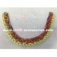 Buy cheap Yellow And Red Handmade Beaded Necklaces Knitting For Garment Accessories from wholesalers