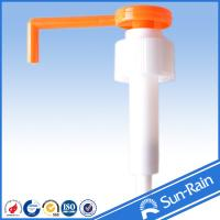 Buy cheap Orange & white long nozzle plastic 28mm lotion pump for medical use product