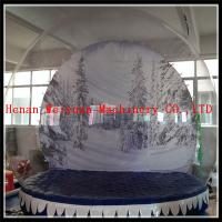 Buy cheap Advertising Christmas background inflatable snow globe 4M diamater PVC0.8mm material from wholesalers
