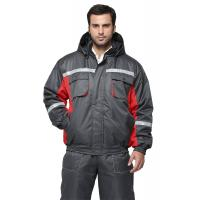 Buy cheap 100% Polyester Oxford Workwear Winter Jackets Wind Resistant With PU Coated Inside from wholesalers