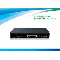 Buy cheap SNMP Managed Media Converter Fiber Optic Switch  3 Port SFP 1000BASE - Fx 4 Port 10 / 100 / 1000M - Tx from wholesalers