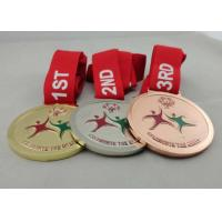 Buy cheap Copper Plated Medals With Ribbon , Die Casting For Olympic Game from wholesalers